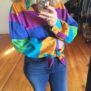 Vintage '90s Stripes Bright Colorblock Colours